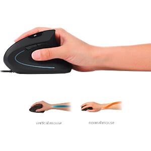 Maus (Mouse), Kabel, optisch, vertikal, PERIMICE-513 PERIXX 11168