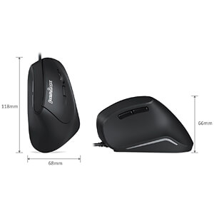 Maus (Mouse), Kabel, optisch, vertikal, PERIMICE-515 II PERIXX 11534