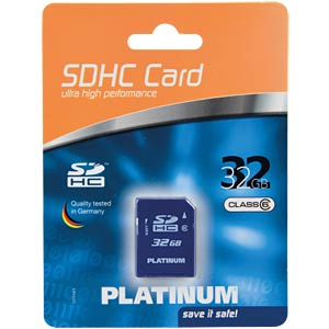 SDHC card 32GB Class 6 PLATINUM 177114