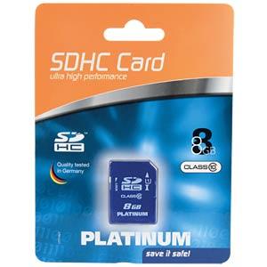SDHC-Speicherkarte 8GB Class 10 PLATINUM 177116