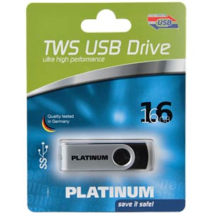 USB3.0-Stick 16GB Platinum TWS PLATINUM 177490