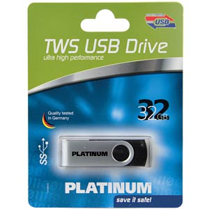 USB3.0-stick 32GB Platinum TWS PLATINUM 177491