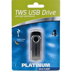 USB2.0-Stick 4GB Platinum TWS PLATINUM 177559