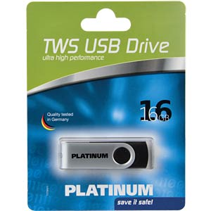 USB2.0-Stick 16GB Platinum TWS PLATINUM 177562