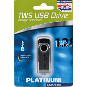 USB3.0-Stick 128GB Platinum TWS PLATINUM 177590
