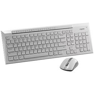 Tastatur-/Maus-Kombination, Funk, weiß RAPOO 11005