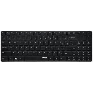 RAPOO E9110 SW - Funk-Tastatur, schwarz