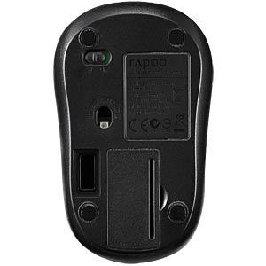 Maus (Mouse), Funk, schwarz RAPOO 10925