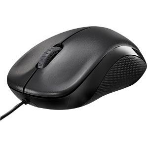 Maus (Mouse), Kabel, USB - schwarz RAPOO 13742