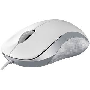 Maus (Mouse), Kabel, USB - weiß RAPOO 13749