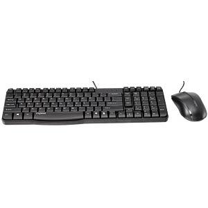 Tastatur-/Maus-Kombination, USB, schwarz RAPOO 13712