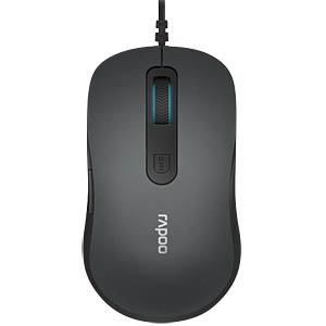 Maus (Mouse), Kabel, USB - grau RAPOO 17434