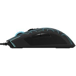 Maus (Mouse), Kabel, USB - crack schwarz RAPOO 17441