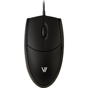 Maus (Mouse), Kabel, USB, schwarz V7 MV3000010-BLK-5E