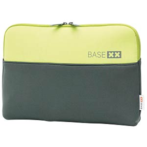 "Neoprene protective cover, 13.3"", grey and lime BASE XX D31138"