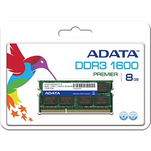 ADATA 8 GB SO DDR3 1600 CL11 A-DATA AD3S1600W8G11-R