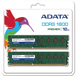 16 GB DDR3 1600 CL11 A-DATA 2er Kit A-DATA AD3U1600W8G11-2