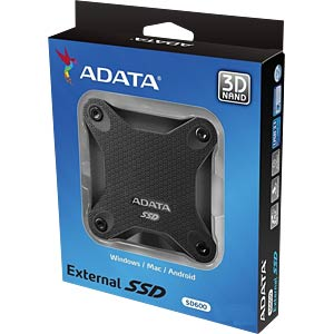 ADATA Durable SD600 256 GB, USB 3.1, black A-DATA ASD600-256GU31-CBK