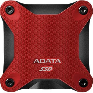 Dysk ADATA Durable SD600 256 GB, USB 3.1, czerwony A-DATA ASD600-256GU31-CRD