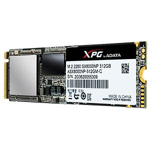 ADATA XPG SX8000 512GB, M.2 2280 A-DATA ASX8000NP-512GM-C