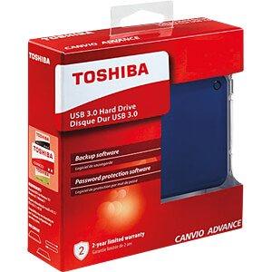 Toshiba Canvio Advance, blue, 2 TB TOSHIBA HDTC920EL3AA