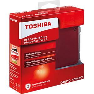 Toshiba Canvio Advance rot 2TB TOSHIBA HDTC920ER3AA