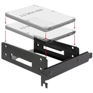 Einbaurahmen für 2 x 2.5 HDD in den PCI Slot DELOCK 18207