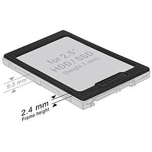 HDD & SSD - Erweiterungsrahmen/Spacer 2,5mm DELOCK 18216