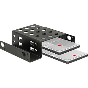 Einbaurahmen HDD/SSD 2 x 2,5 zu 5,25, Metall DELOCK 18270