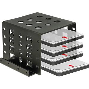 Einbaurahmen HDD/SSD 4x 2,5 zu 3,5, Metall DELOCK 18271