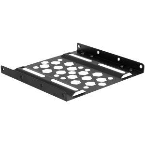 Aluminium Einbaurahmen 2.5 zu 3.5 schwarz DELOCK 21287