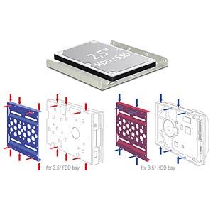 Aluminium Einbaurahmen 2.5 zu 3.5 silber DELOCK 21289
