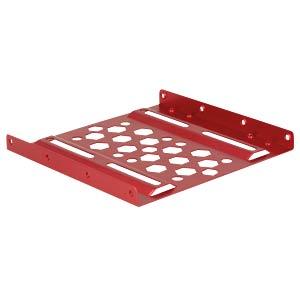 Aluminium Einbaurahmen 2.5 zu 3.5 rot DELOCK 21290