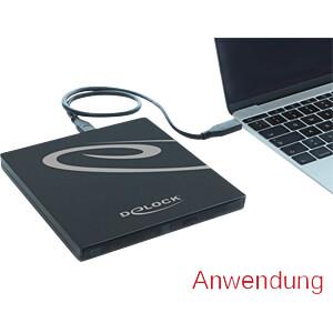 Delock Gehäuse Ultra Slim SATA 9,5mm > USB Type-C DELOCK 42595