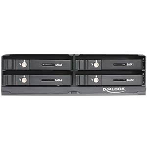 5.25 mobile rack for 4 x 2.5 SATA HDD DELOCK 47220
