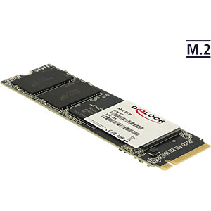 M.2 PCIe SSD Micron 3D-MLC Industrial, 128 GB (S80), -40 + 85 °C DELOCK 54807