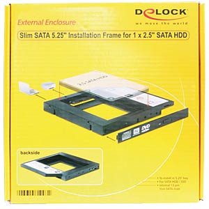 "Mounting frame for SATA HDD/SSD in 5.25"", slim DELOCK 61993"