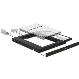 Einbaurahmen für SATA HDD/SSD in 5,25 Slim DELOCK 62669
