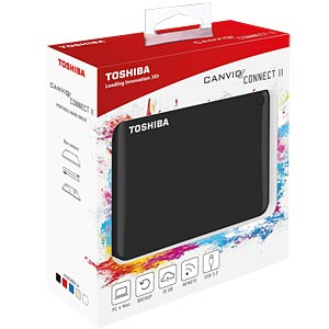 Toshiba Canvio Connect II 1 TB black TOSHIBA HDTC810EK3AA