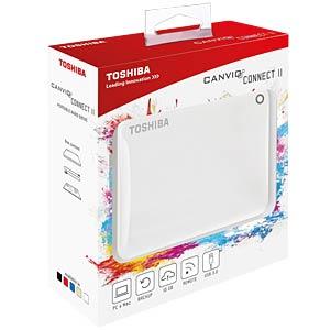 Externe 2TB Festplatte Canvio Connect II weiß TOSHIBA HDTC820EW3CA