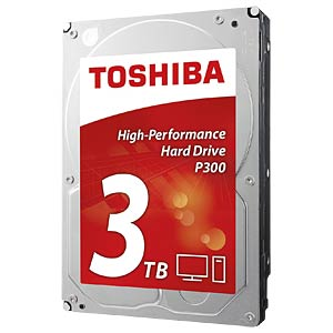 Desktop hard drive, 3 TB, Toshiba P300 TOSHIBA HDWD130UZSVA