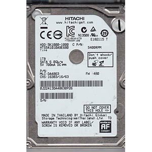 Notebook-Festplatte, 1 TB, HGST Travelstar HGST HTS541010A9E680