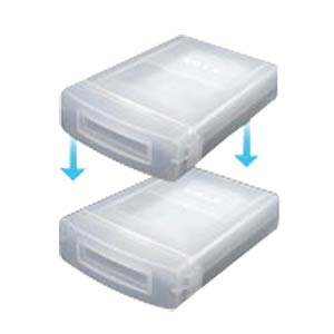 "Hard Drive Protection Box for 1x 3.5"" transparent ICYBOX 70204"