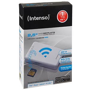Intenso Wi-Fi HDD Memory2Move Pro 1TB weiß INTENSO 6025861