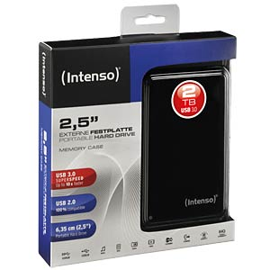 "External hard drive 2.5"", USB 3.0, 2000 GB, black INTENSO 6021580"