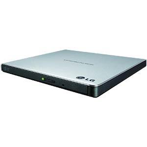 LG portable slim DVD burner, USB silver LG GP57ES40