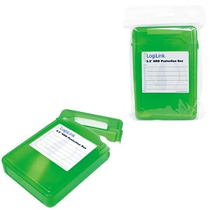"Hard disk protection box for 1x 3.5"", green LOGILINK UA0133G"