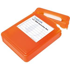 """Festplatten Schutz-Box für 1x 3.5"""" orange LOGILINK UA0133O"""