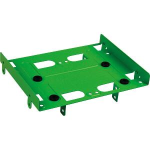 Einbaurahmen 5,25 zu 4x 2,5 / 2x 2,5 1x 3,5, grün SHARKOON 4044951013555