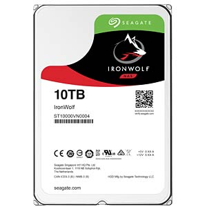 NAS hard drive 10 TB, Seagate IronWolf SEAGATE ST10000VN0004